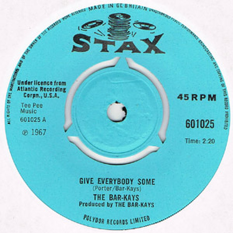 BAR-KAYS / GIVE EVERYBODY SOME