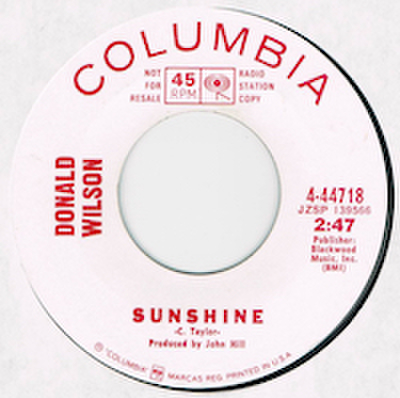 DONALD WILSON / SUNSHINE