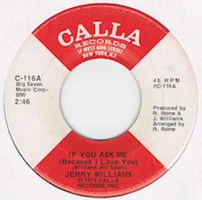 JERRY WILLIAMS / IF YOU ASK ME