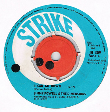 JIMMY POWELL & THE DIMENSIONS / I CAN GO DOWN