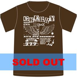 Tシャツ2010「CHERRY ROCK」ダークブラウン