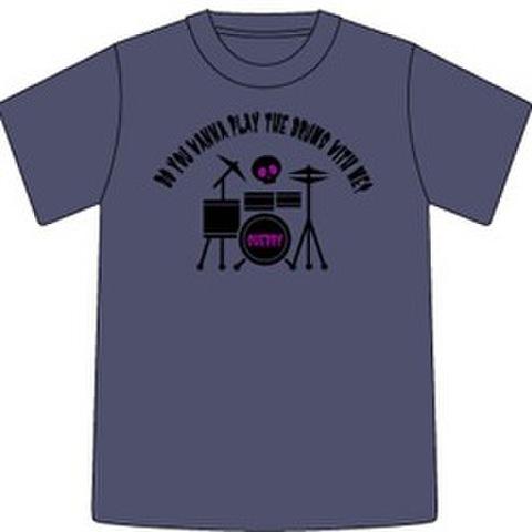 Tシャツ2007「スカルドラマー」チャコールグレイ