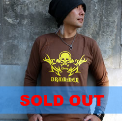 Tシャツ2008「DRUMMER」長袖イエロー柄