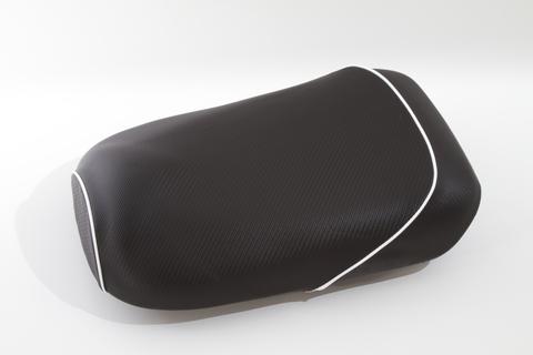 ズーマー用 カーボン柄 シートカバー パイピング ホワイト