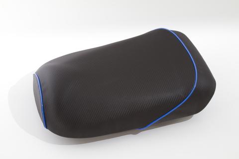 ズーマー用 カーボン柄 シートカバー パイピング ブルー