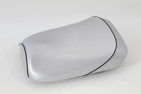 ズーマー用 シルバーカーボン柄 シートカバー パイピング ブラック