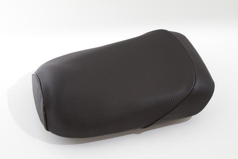ズーマー用 カーボン柄 シートカバー パイピング ブラック