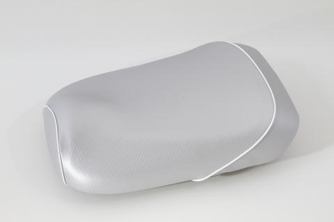 ズーマー用 シルバーカーボン柄 シートカバー パイピング ホワイト