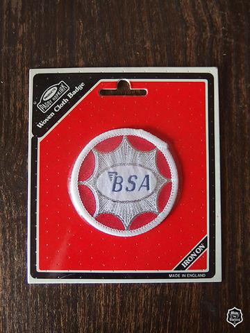 BSA 70's ヴィンテージ クロスバッジ レッド&ホワイト