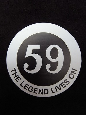 59club sticker The Legend lives on sold