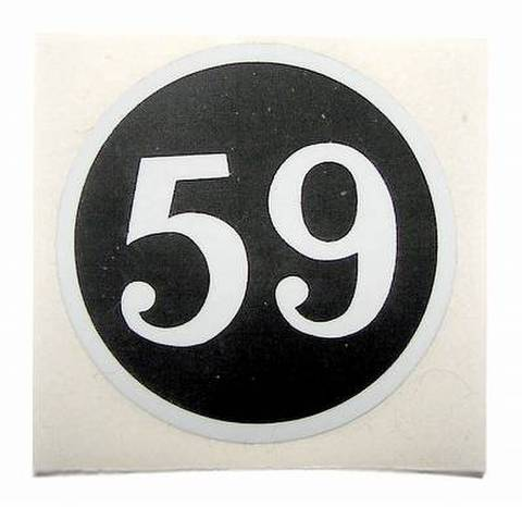 59CLUB STICKER MINI ROUND sold