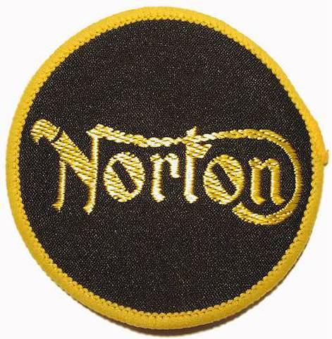 NORTON ノートン ビンテージ クロスバッジ イエロー&ブラック