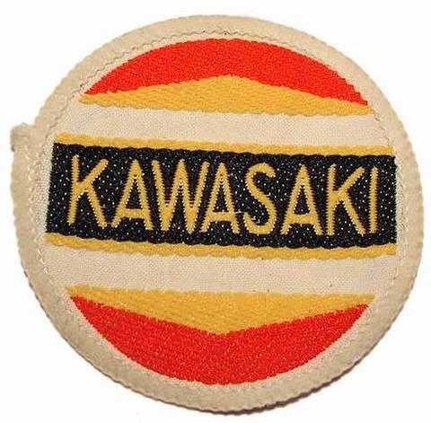 KAWASAKI ヴィンテージ クロスバッジ ラウンド