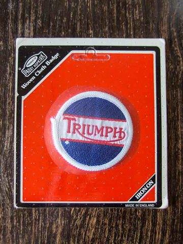 トライアンフ 70's ヴィンテージ クロスバッジ ブルー