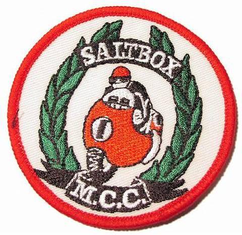 SALT BOX M.C.C クロスバッジ