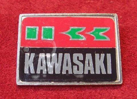 KAWASAKI ヴィンテージ スクエアバッジ