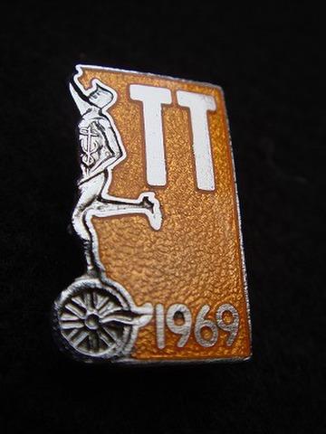 マン島 T.T. 1969年 記念 マーキュリーバッジ
