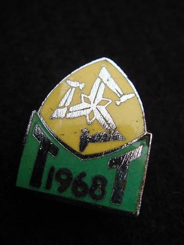 マン島 T.T. 1968年 記念バッジ