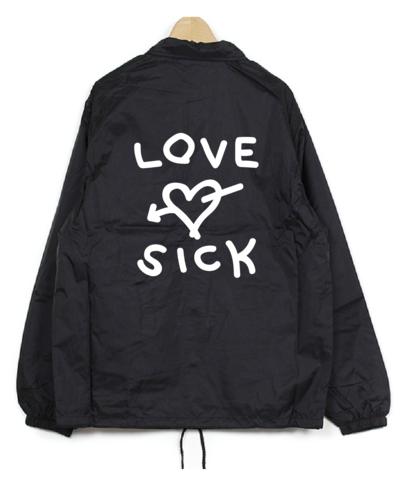 曽我部恵一 /LOVE-SICK コーチジャケット(Coach jacket/black)