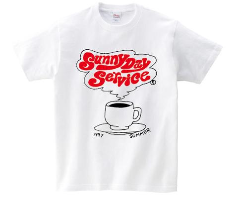 KIDSサイズ サニーデイ・サービス /  復刻版コーヒーカップTシャツ(T-shirt/white)