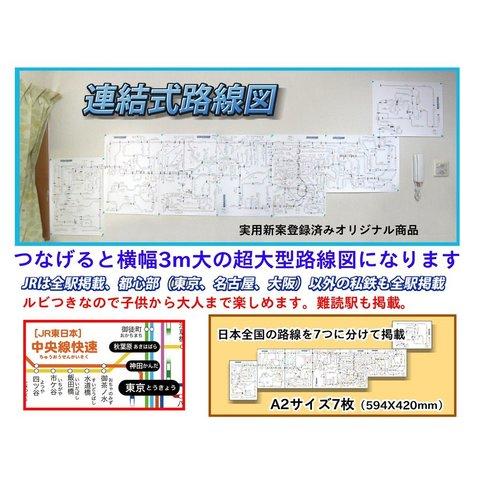 「連結式路線図 7枚セット」【ふりがな付き路線図】