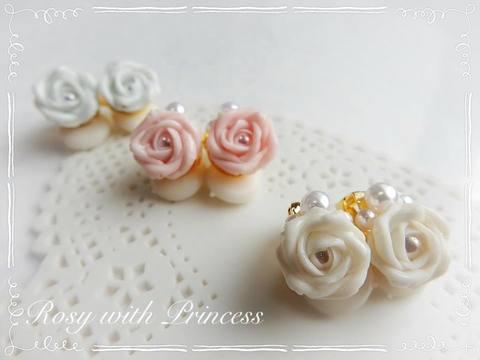 【カラーオーダー】薔薇のイヤリング
