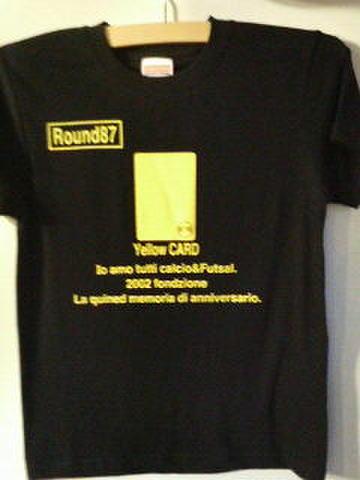 サッカーイエローカード&レッドカード Tシャツ