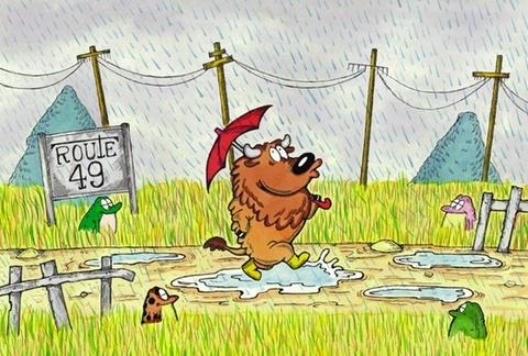 ポストカード雨散歩