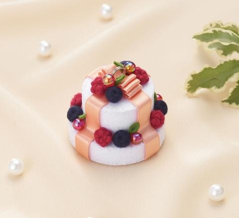 ≪キット≫ベリーのリボンケーキチャーム
