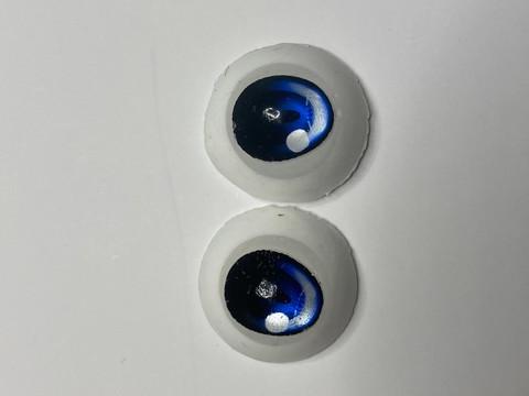 (9)【処分品】Dランク22mmレジンアイ・B11青色