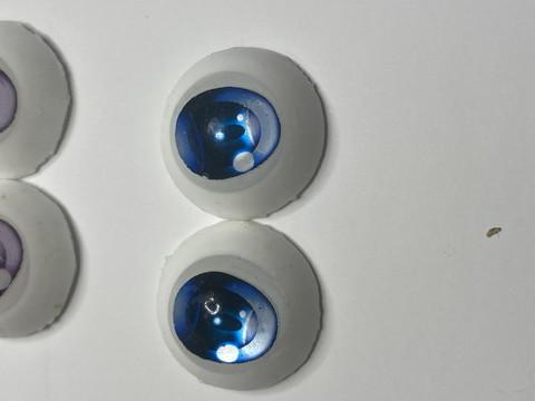 (13)【処分品】Dランク22mmレジンアイ・B10青色