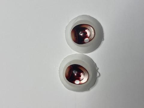 (7)【処分品】Dランク22mmレジンアイ・B10赤色