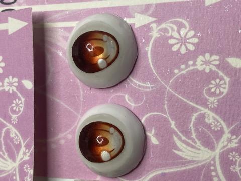 (1)【処分品】Dランク22mmレジンアイ・B04オレンジ色