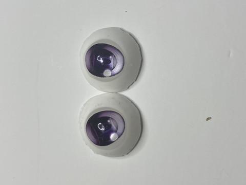 (12)【処分品】Dランク22mmレジンアイ・B10紫色