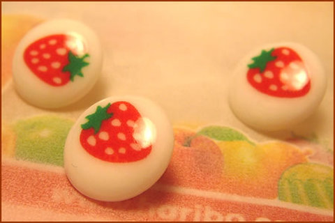 ミルクボタン(イチゴ)3個セット