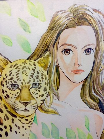 原画「豹の娘」