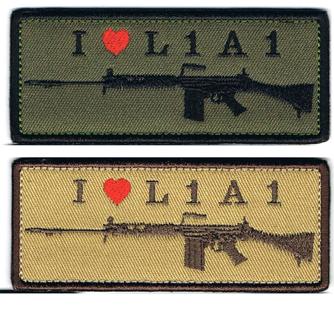 I LOVE L1A1パッチ