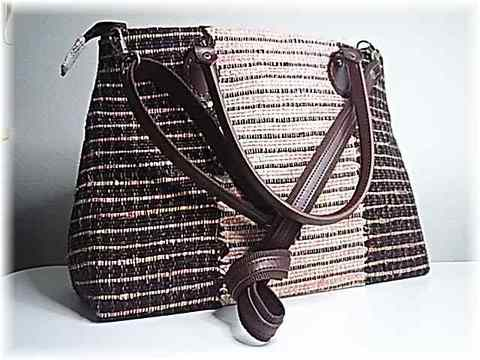B-7・裂き織り・3-1の織の2Wayバッグ