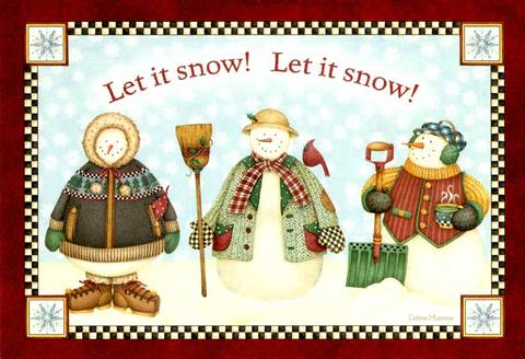 "Christmas Card ""Let it Snow"""
