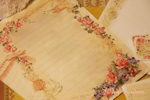 Papier Dore☆Letter Set☆2羽の鳩