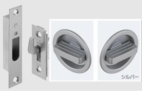【 ATOM 】 アトムリビンテック TKS51-GT1 チューブラ鎌錠 ワイドエスカッション C 丸座 空錠(両面グリップサムターン) BS51mm DT28~36mm シルバー