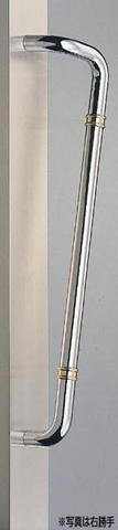 SHIROKUMA WB No.251 片L形丸棒取手 両面用 標準扉厚31mm~41mm 呼称 600 クローム
