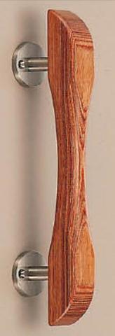 SHIROKUMA WB No.22 ウッド平丸取手 片面用(木ネジ) 呼称 大 L=240mm(全長) ウッド