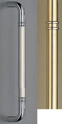 SHIROKUMA WB No.253G 丸棒取手 両面用 標準扉厚10mm~55mm 呼称 大 L=450mm(全長) 金