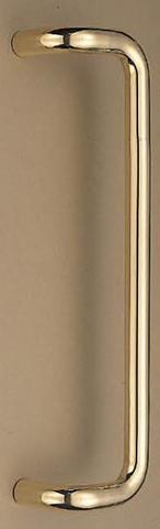 SHIROKUMA WB No.250 L形丸棒取手 両面用 標準扉厚10mm~55mm 呼称 大 L=450mm(全長) 金