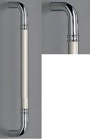 SHIROKUMA WB No.253G 丸棒取手 両面用 標準扉厚10mm~55mm 呼称 大 L=450mm(全長) クローム
