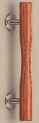 SHIROKUMA WB No.21 ウッド杵形取手 片面用(木ネジ) 呼称 小 L=190mm(全長) ウッド