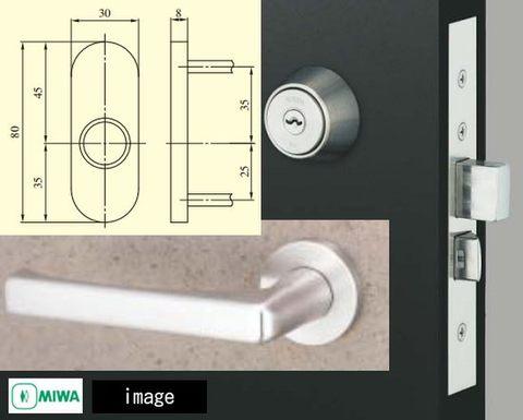 MIWA 美和ロック U9LA50ー1 バックセット31mm 扉厚(mm) 33~41 仕上 ST  キー3本付属