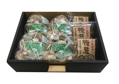 S-01 生椎茸4袋 + 干し椎茸(30g)3袋セット