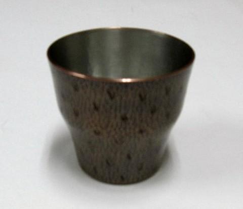 銅製 ロックカップ 荒打 素銅色